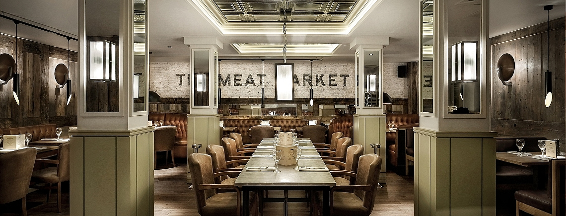 Meat market style fused with urban warehouse vibe